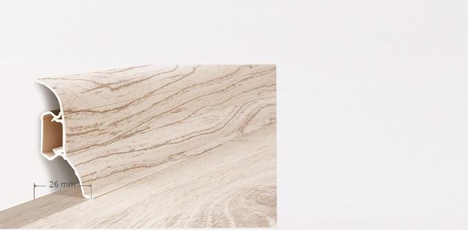 Soklová lišta Quadro dekor bílá  (005Q)