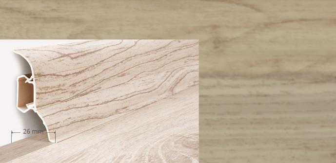 Soklová lišta Quadro dekor dub aldabra (001Q)