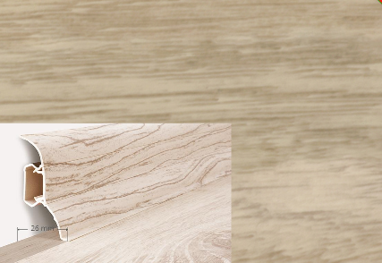 Soklová lišta Quadro dekor dub belweder (018Q)