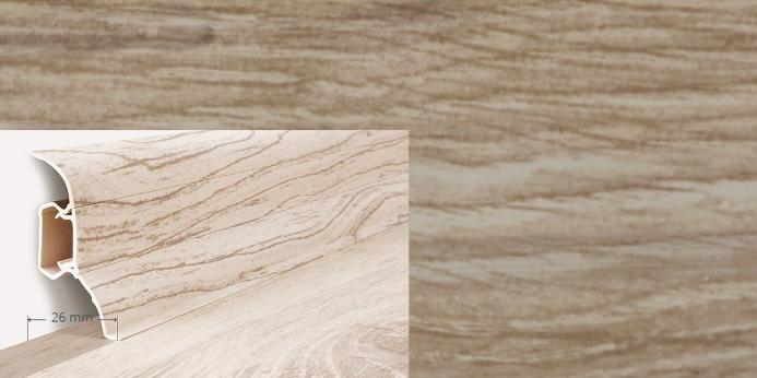 Soklová lišta Quadro dekor dub husky (003Q)