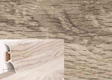 Soklová lišta Quadro dekor dub spinel (017Q)