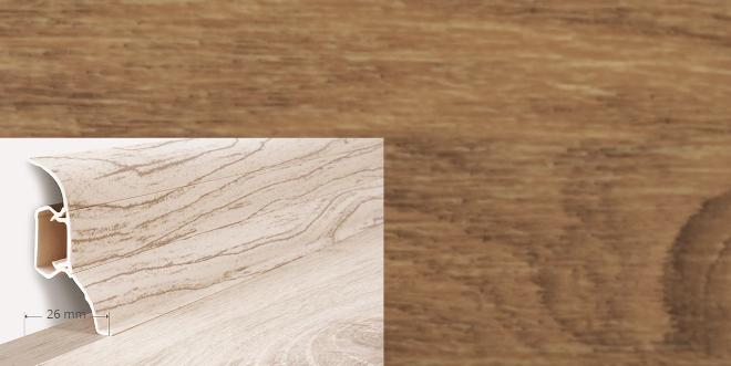 Soklová lišta Quadro dekor dub slezský (011Q)