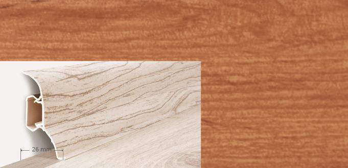 Soklová lišta Quadro dekor dub antický (007Q)