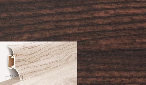 Soklová lišta Quadro dekor wenge (015Q)
