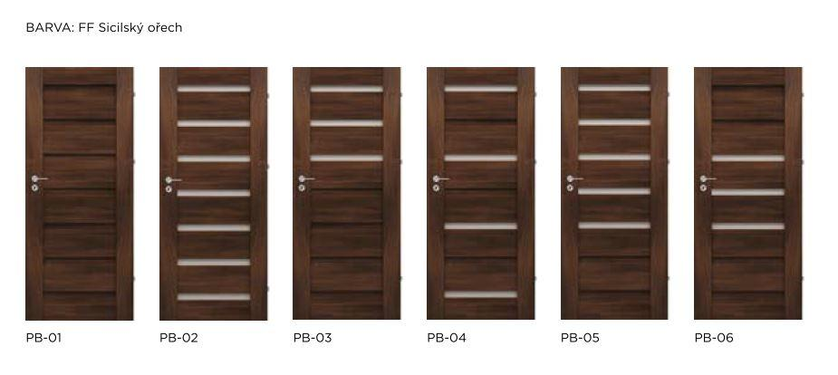 Bezfalcové rámové interiérové dveře - VIVENTO - PRESTIGE PB