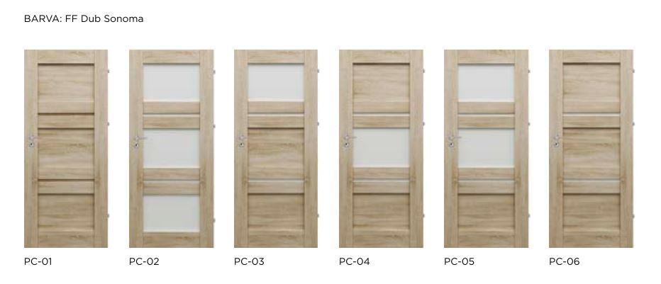 Bezfalcové rámové interiérové dveře - VIVENTO - PRESTIGE PC