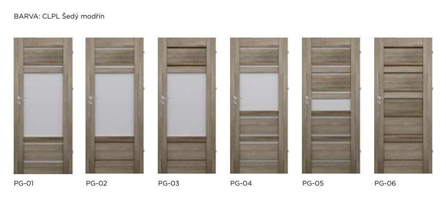 Bezfalcové rámové interiérové dveře - VIVENTO - PRESTIGE PG