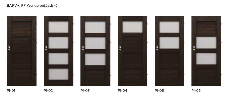 Bezfalcové rámové interiérové dveře - VIVENTO - PRESTIGE PI