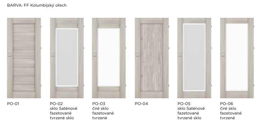Bezfalcové rámové interiérové dveře - VIVENTO - PRESTIGE PO
