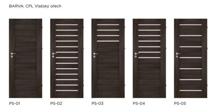 Bezfalcové rámové interiérové dveře - VIVENTO - PRESTIGE PS