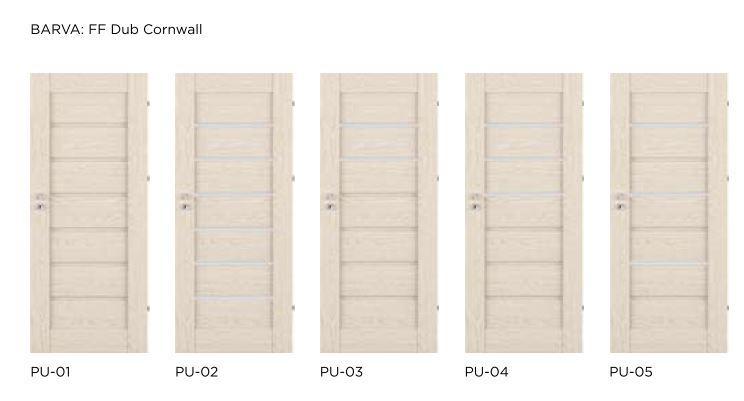 Bezfalcové rámové interiérové dveře - VIVENTO - PRESTIGE PU
