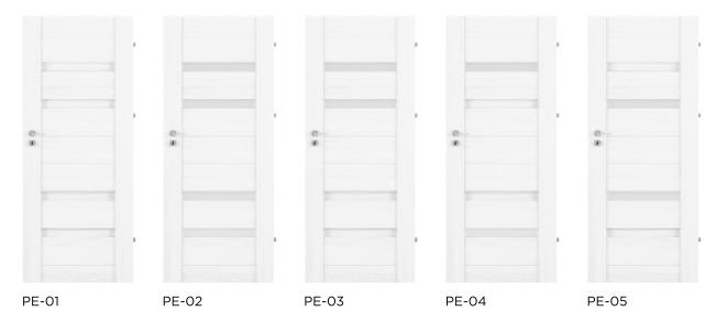 Bezfalcové rámové interiérové dveře - VIVENTO - PRESTIGE PE