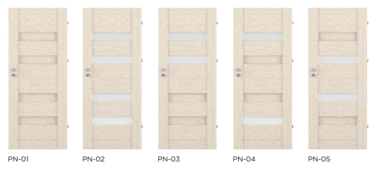 Bezfalcové rámové interiérové dveře - VIVENTO - PRESTIGE PN