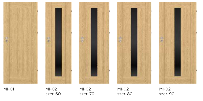 Bezfalcové rámové interiérové dveře - VIVENTO - PRESTIGE MI