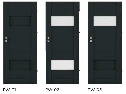 Bezfalcové rámové interiérové dveře - VIVENTO - PRESTIGE PW