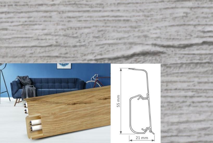 Soklová lišta Quadro dekor dub calisto (019Q)