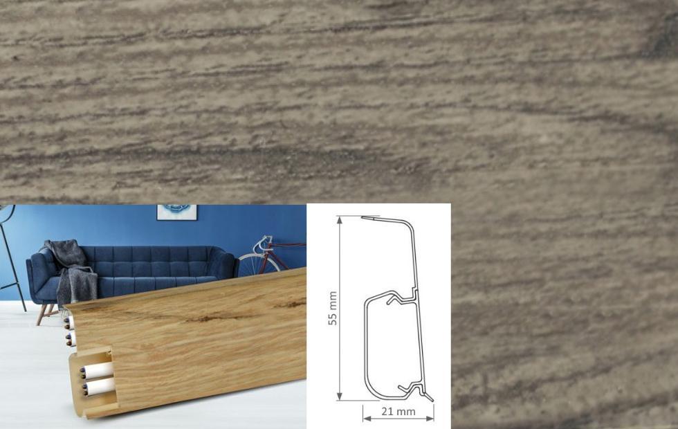 Soklová lišta Quadro dekor dub skalnatý (016Q)