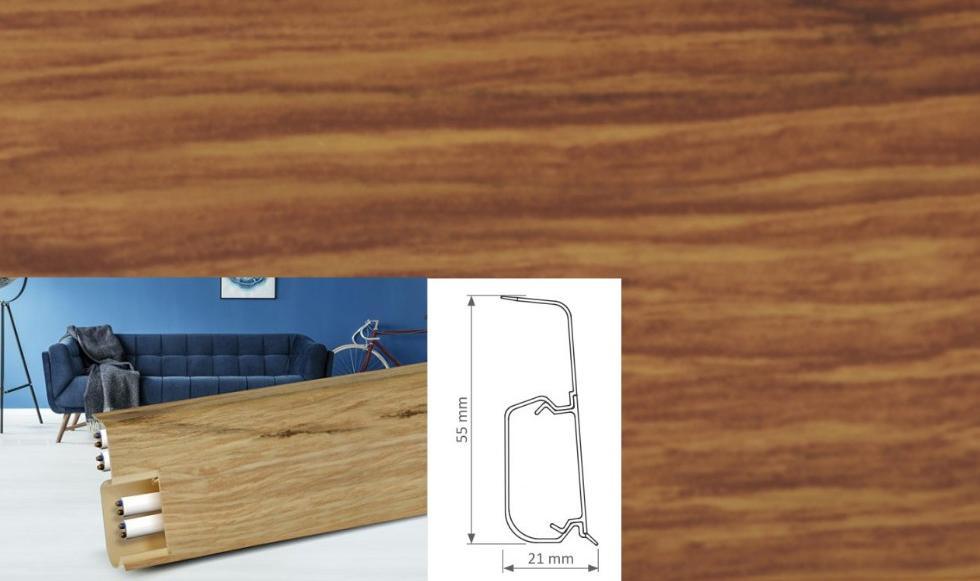 Soklová lišta Quadro dekor dub sutter (004Q)