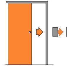 Posuvné dveře na stěnu bezfalcové