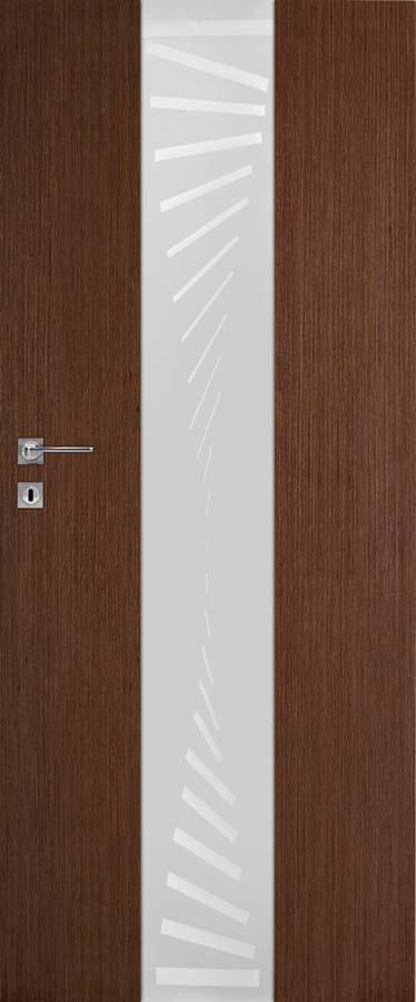 Interiérové dveře DRE Vetro B4 přírodní dýha (NATURA)