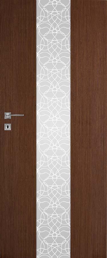 Interiérové dveře DRE Vetro B12 přírodní dýha (NATURA)
