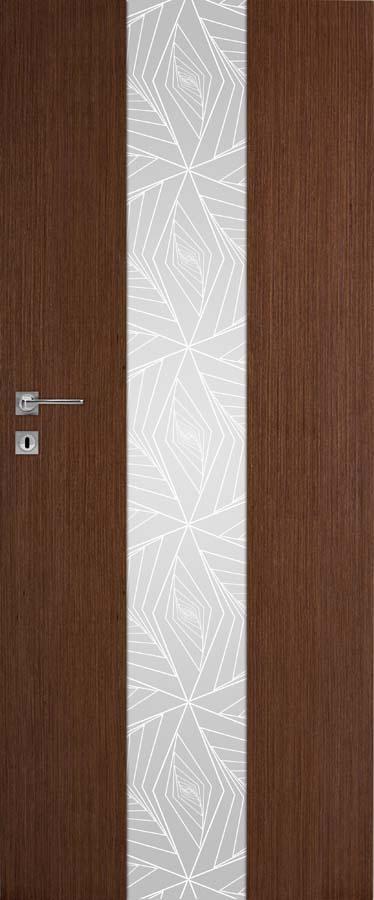 Interiérové dveře DRE Vetro B13 přírodní dýha (NATURA)