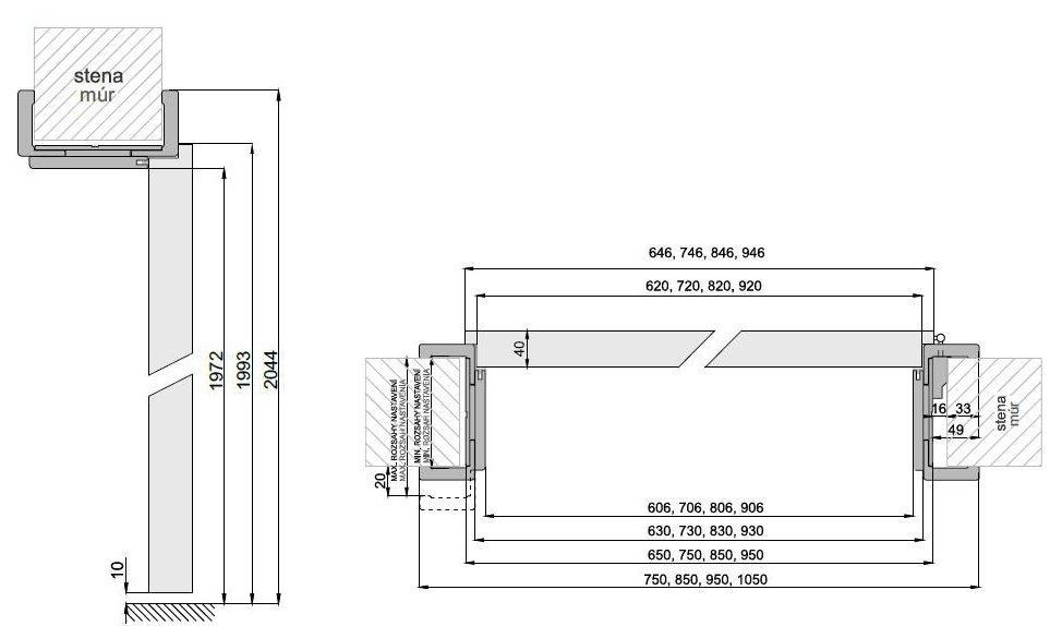 Interiérové dveře DRE STANDARD 40s