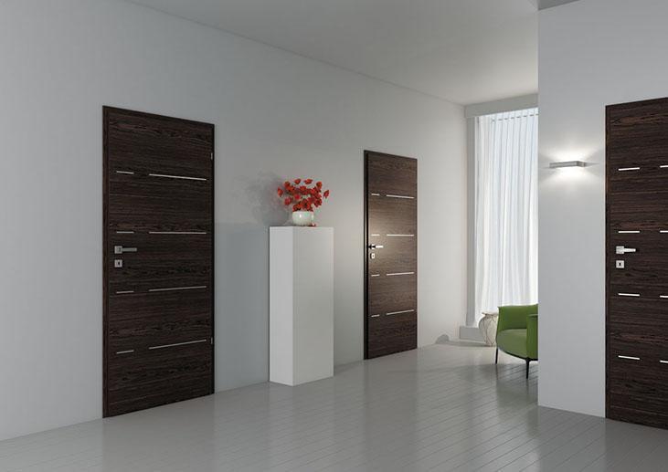 Interiérové dveře DRE Duero ALU 40 přírodní dýha (NATURA)