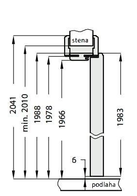 Nastavitelná obložka falcová DRE - přírodní dýha (NATURA)