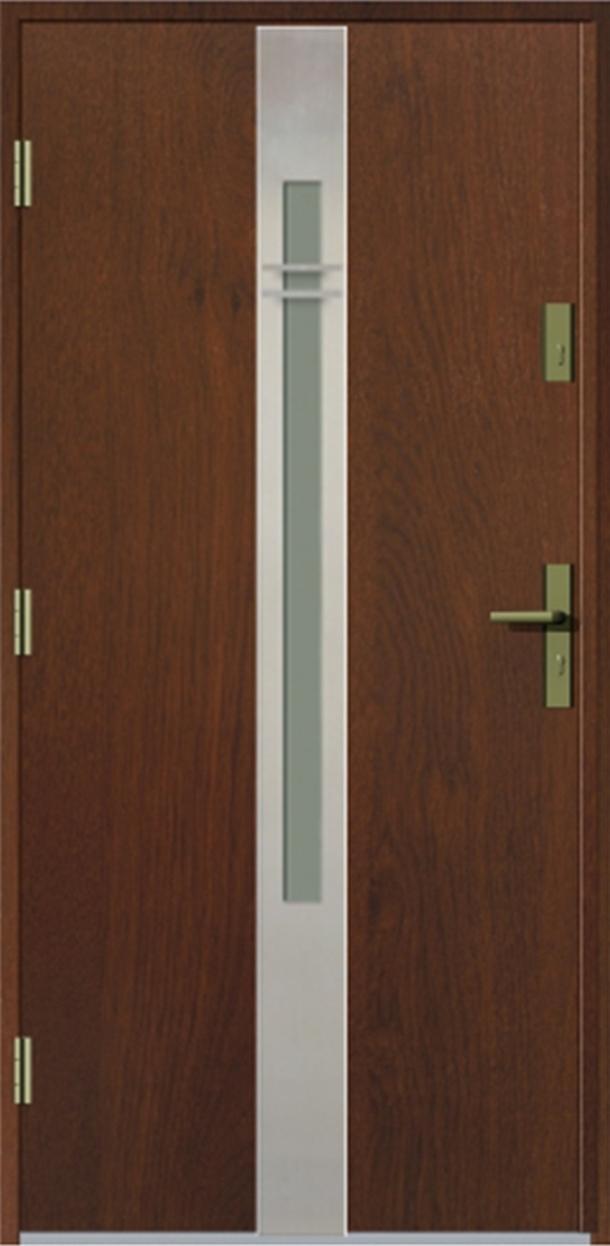 Vchodové dveře do domu MIKEA Prima Thermo Elevado 2 s vitráží