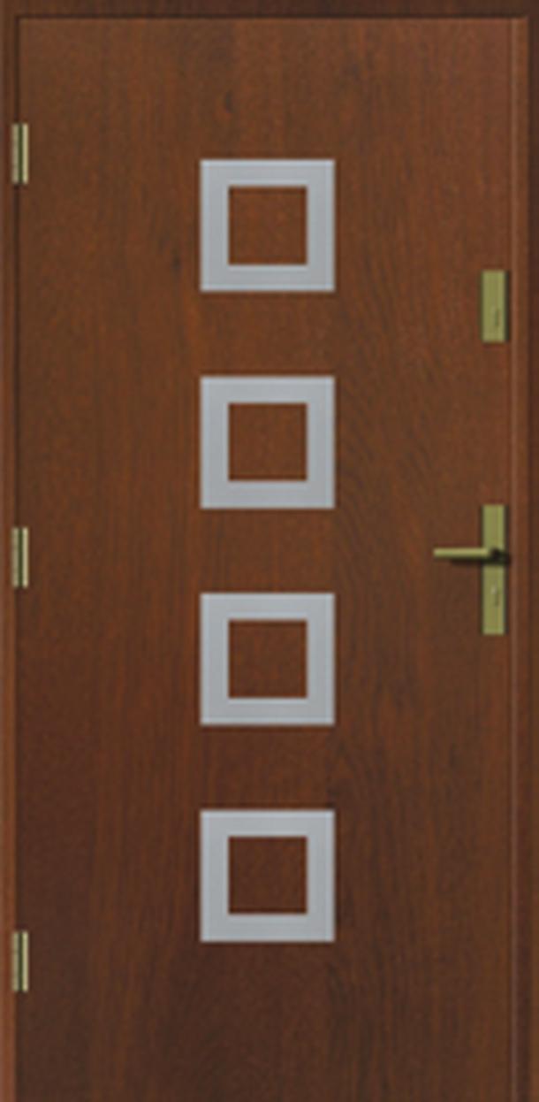 Vchodové dveře do domu MIKEA Prima Thermo Kwadro Inox s aplikací
