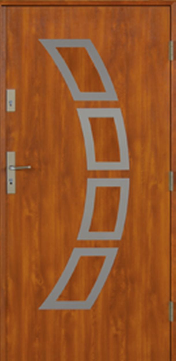 Vchodové dveře do domu MIKEA Prima Thermo Lima Inox s aplikací