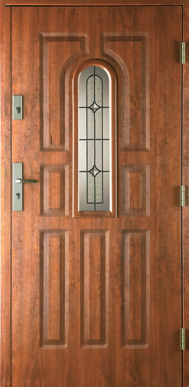 Vchodové dveře do domu MIKEA Prima 9 Panelů s vitráží A