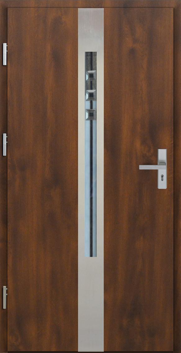 Vchodové dveře do domu MIKEA Pasiv Elevado 2 s vitráží
