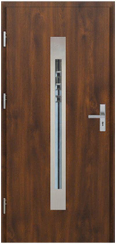 Vchodové dveře do domu MIKEA Pasiv Corte 2 s vitráží