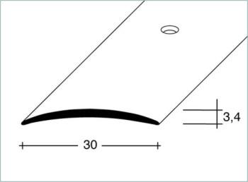 Přechodový profil šroubovací 30x3,4mm DURAL-ELOX délka 2,5m