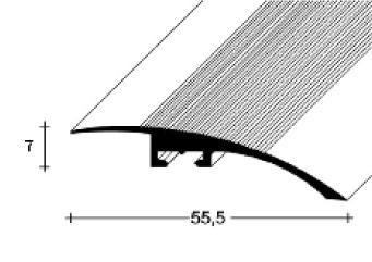 Přechodový profil FERO-FLEX plochý 7-22mm DURAL-ELOX délka 1m