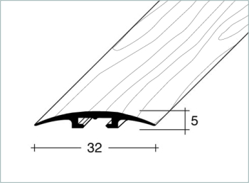 Přechodový profil FERO-FLEX plochý 32x5mm dřevodekor délka 1m