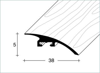 Přechodový profil FERO-FLEX plochý 5-15mm délka 1m
