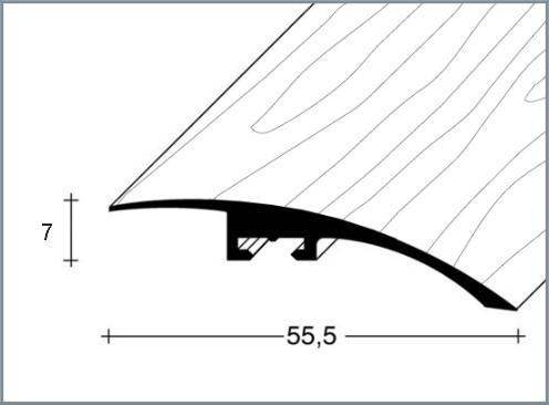 Přechodový profil FERO-FLEX plochý 7-22mm délka 1m