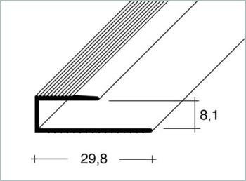 Ukončovací profil 8,1x30mm Dural elox délka 2,5m