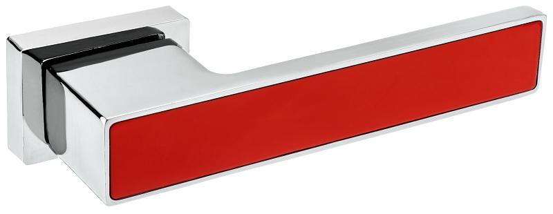 Rozetové kování ROYAL VR1 Chrom lesklý/Červená RAL 3020