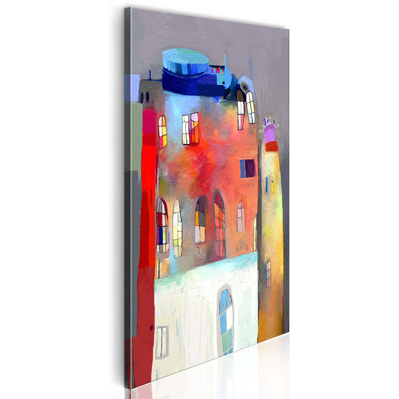 Obraz - Rainbow-hued house 40x80