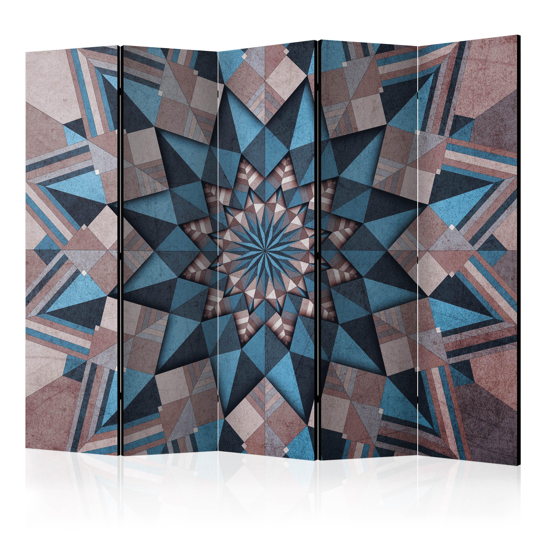 Paraván - Star Mandala (Brown-Blue) II [Room Dividers] 225x172