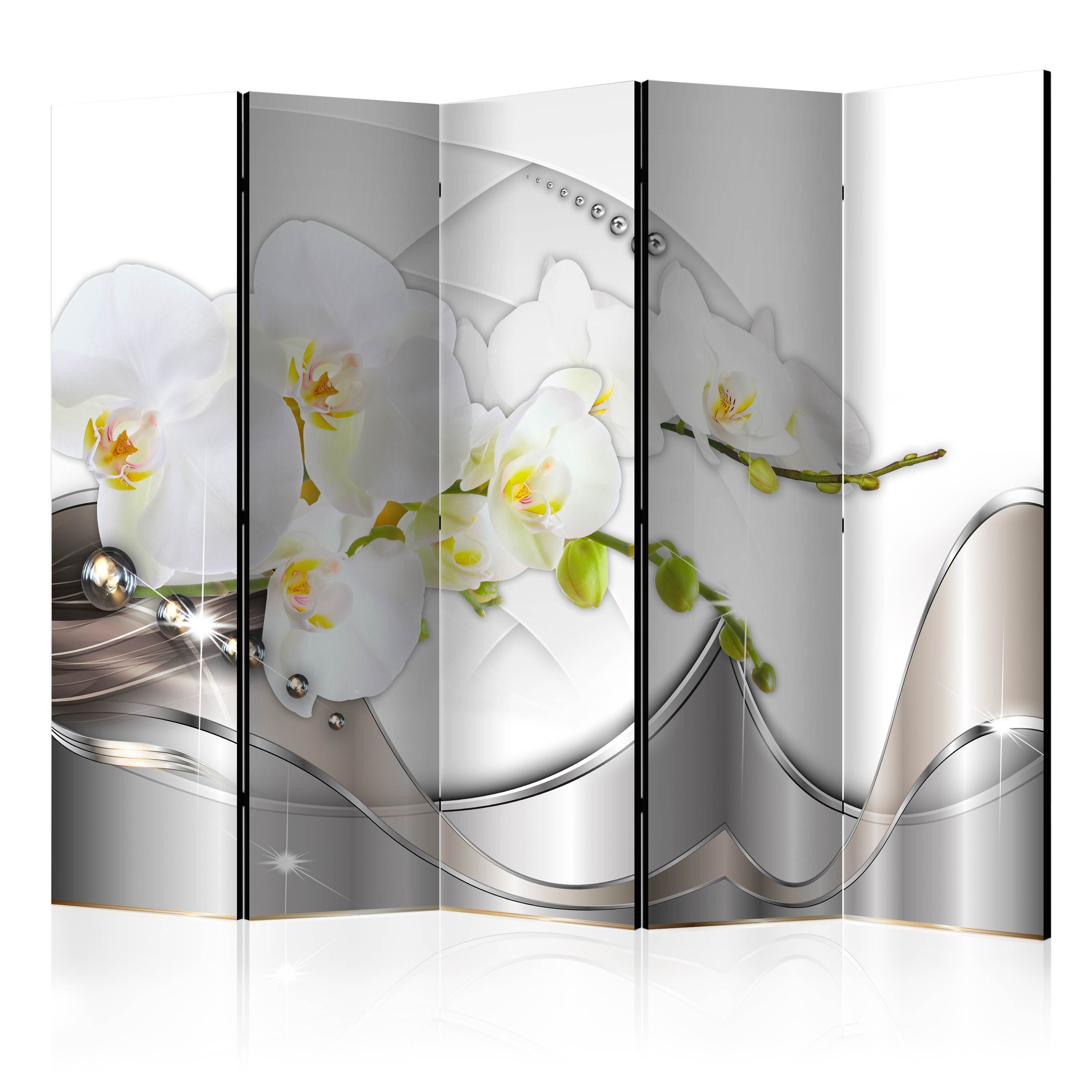 Paraván - Pearl Dance of Orchids II [Room Dividers] 225x172