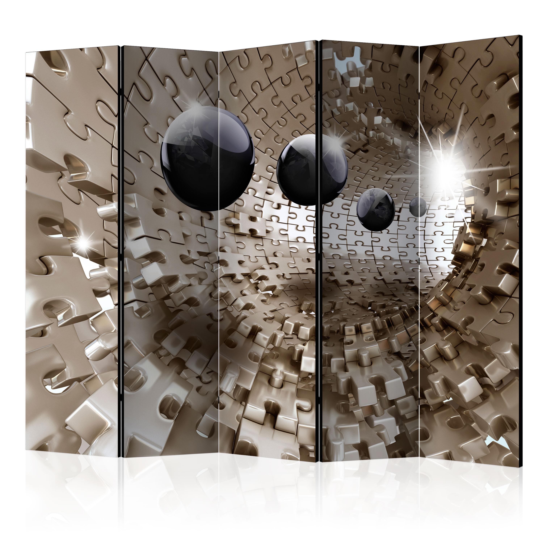 Paraván - Golden Jigsaw II [Room Dividers] 225x172