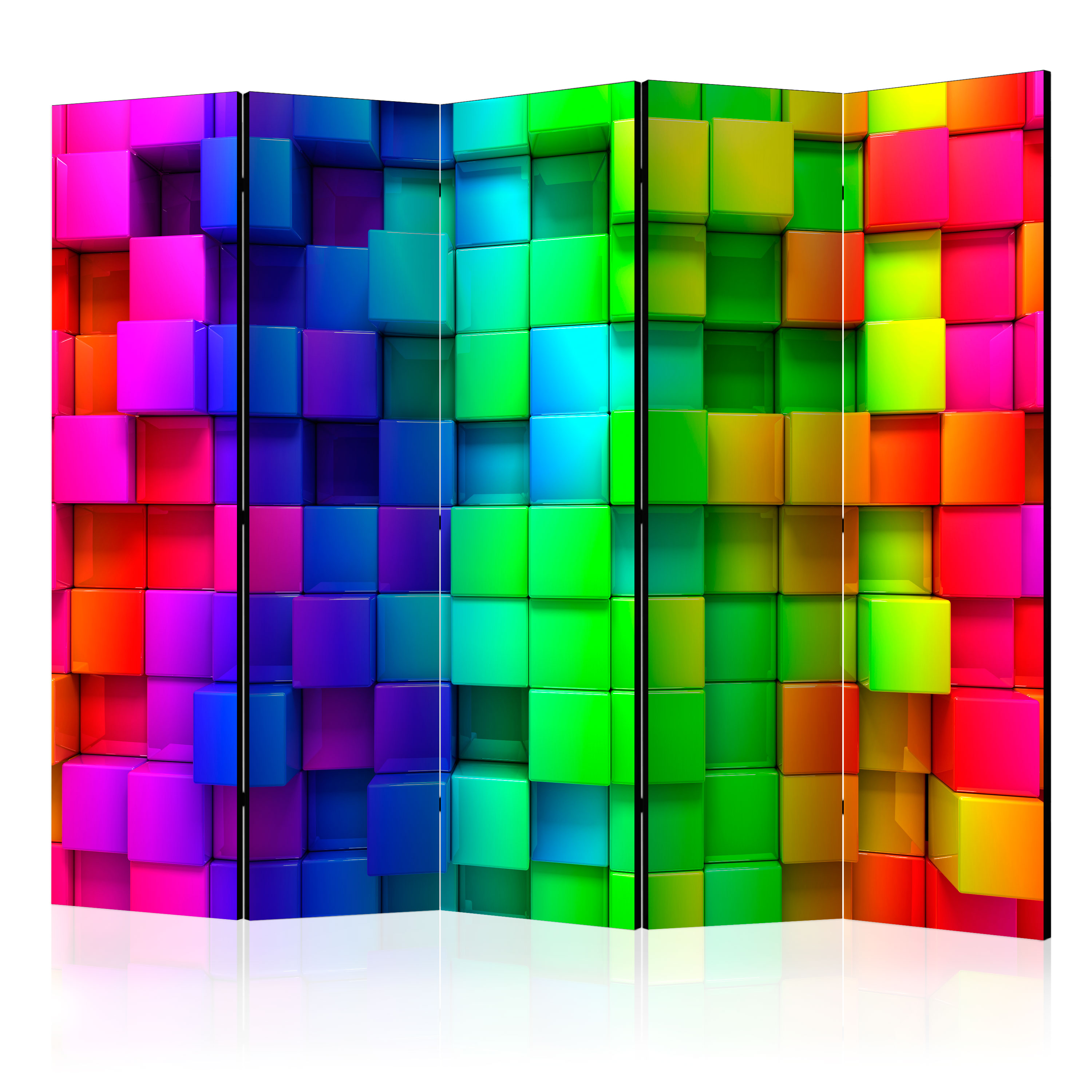 Paraván - Colourful Cubes II [Room Dividers] 225x172