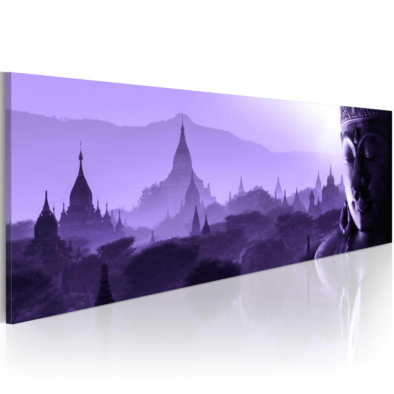 Obraz - Purple Zen 150x50