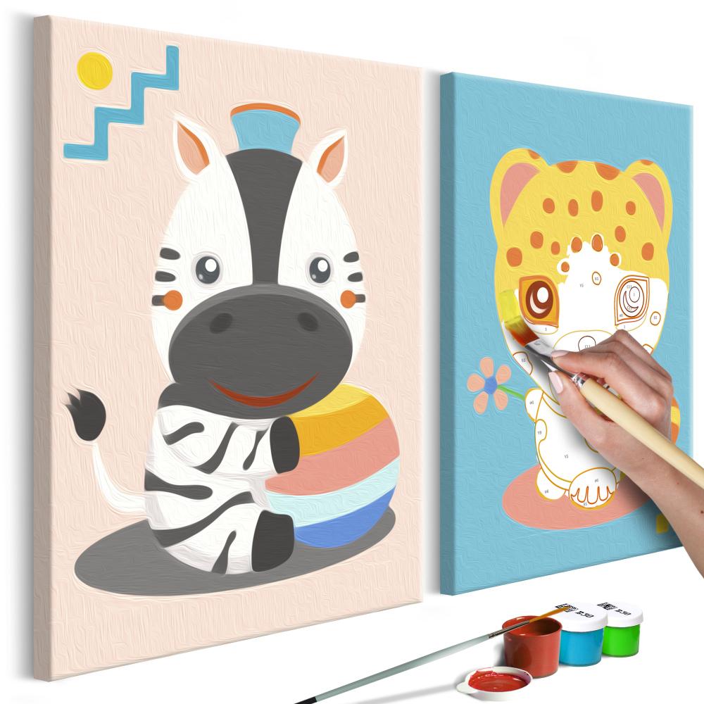 Malování podle čísel - Zebra & Leopard 33x23