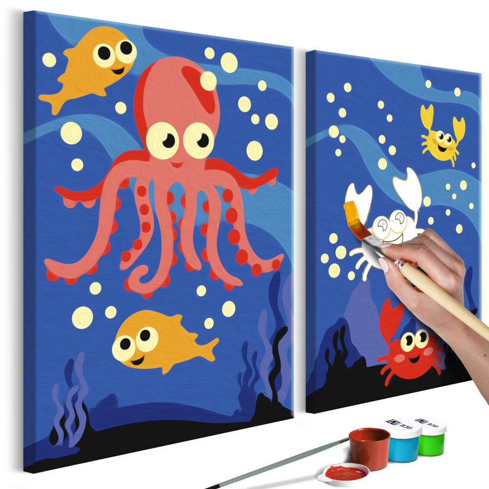Malování podle čísel - Ocean Animals 33x23
